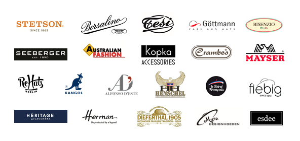 logos of brands that are sold at House of Hats